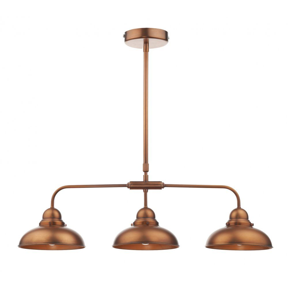 image result for 3 pendant light copper
