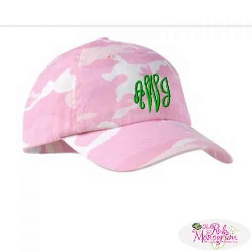 Monogrammed Camouflage Baseball Caps in All Colors  Apparel  www.thepinkmonogram.com