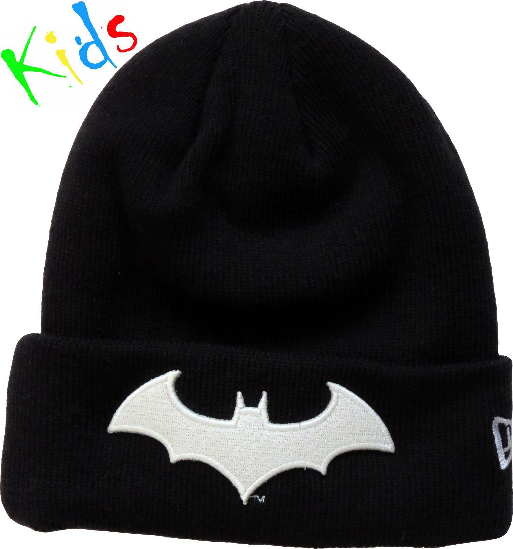 fadc5a7b4b7 New Era Kids NBA Glow In The Dark Character Beanie. Black with the Batman