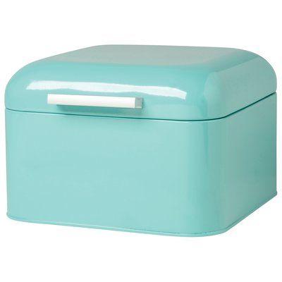 Turquoise Bread Box Latitude Run Herrick Bread Box Color Turquoise  Bread Boxes And