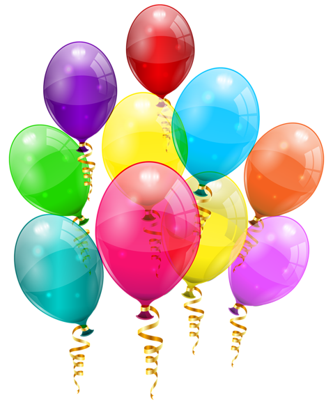 Bunch Of Colorful Balloons Png Clipart Image Happy Birthday Celebration Birthday Balloons Balloons