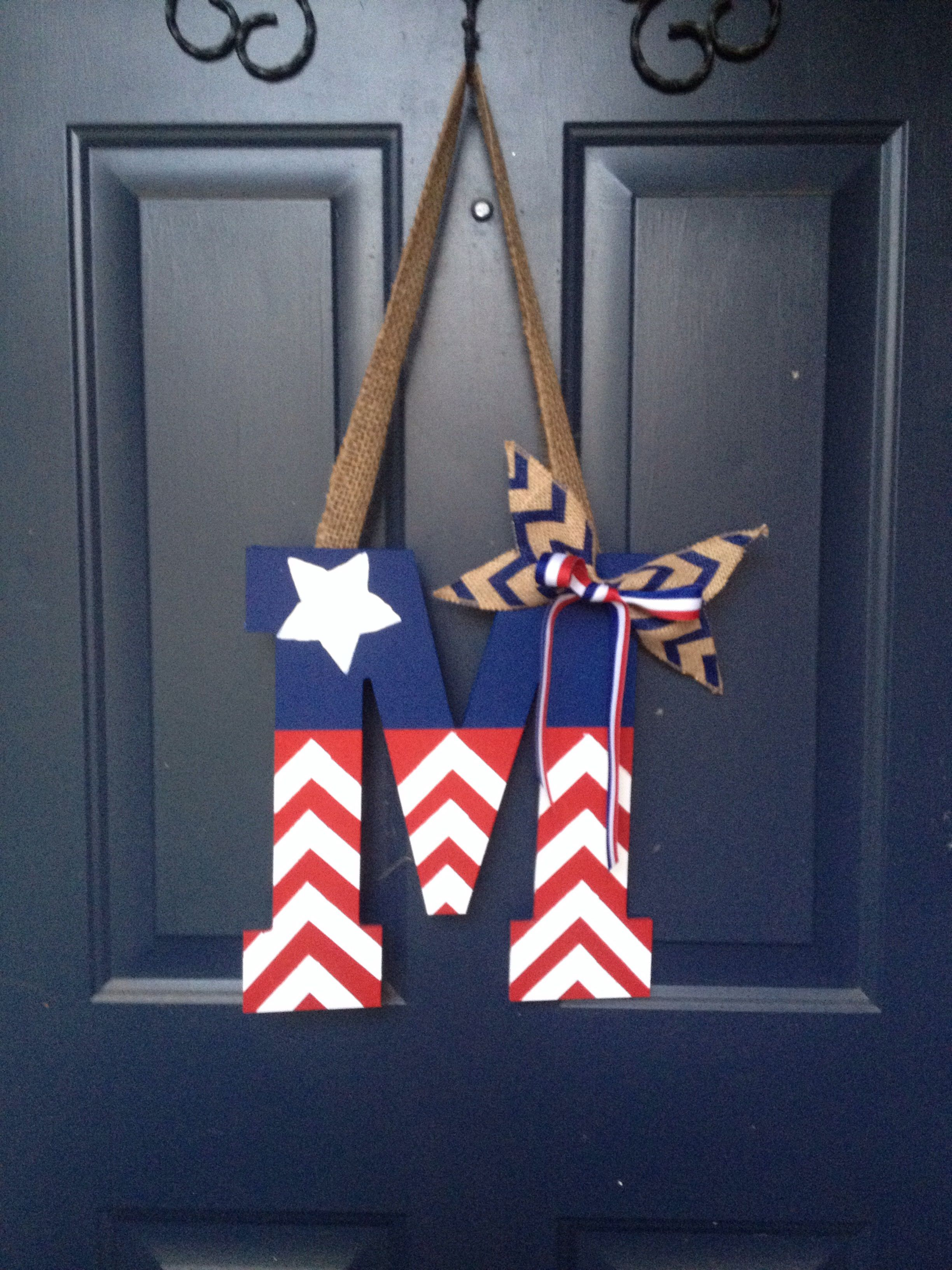 M door hanger, always repping USA along with our last name