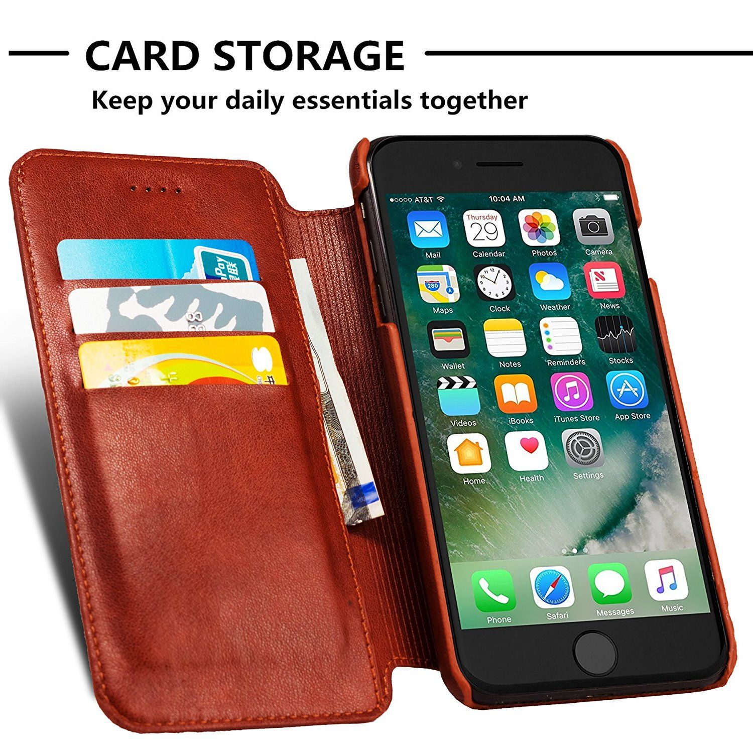 new product 44054 4858a iPhone 8 Plus Case, iPhone 7 Plus Case,Wallet Folding Flip Case with ...