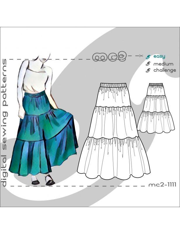 Tiered Prairie Skirt