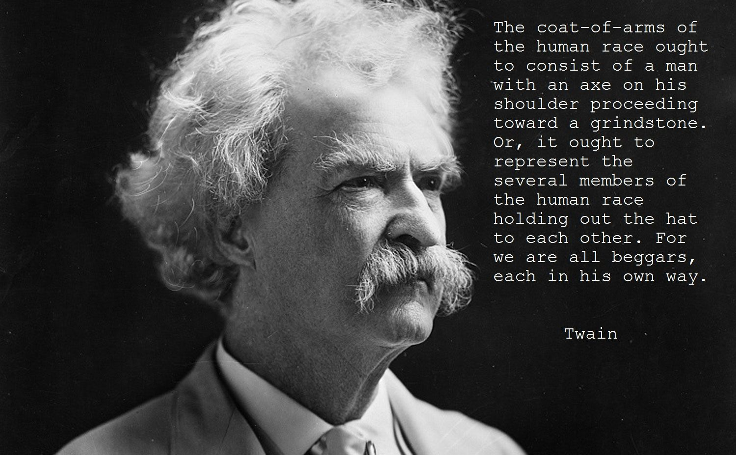 'The coat of arms of the human race...' - Mark Twain [1500x927]