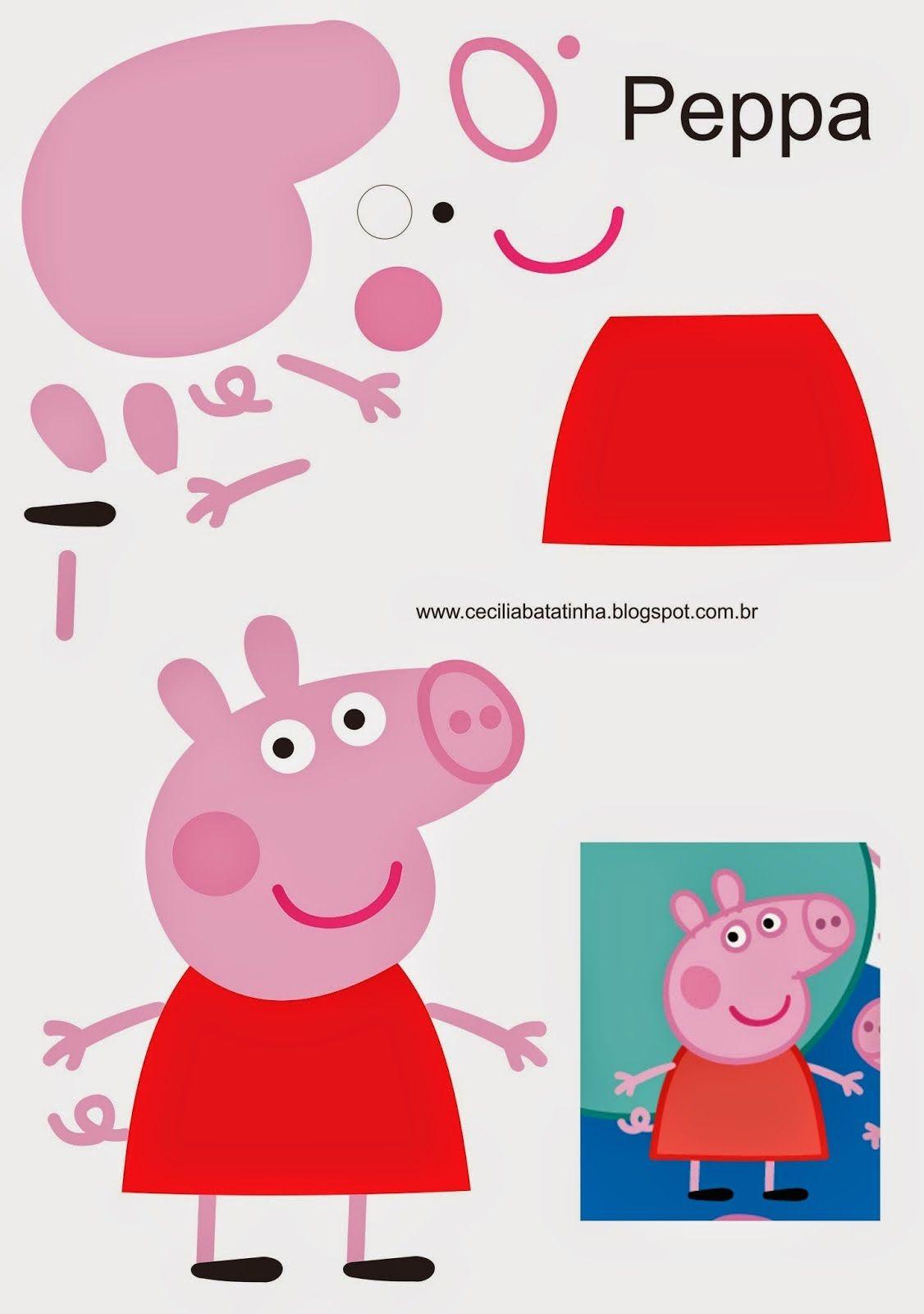 Moldes da Peppa Pig e Sua Turma - Cantinho da Sonia Moura #peppapig