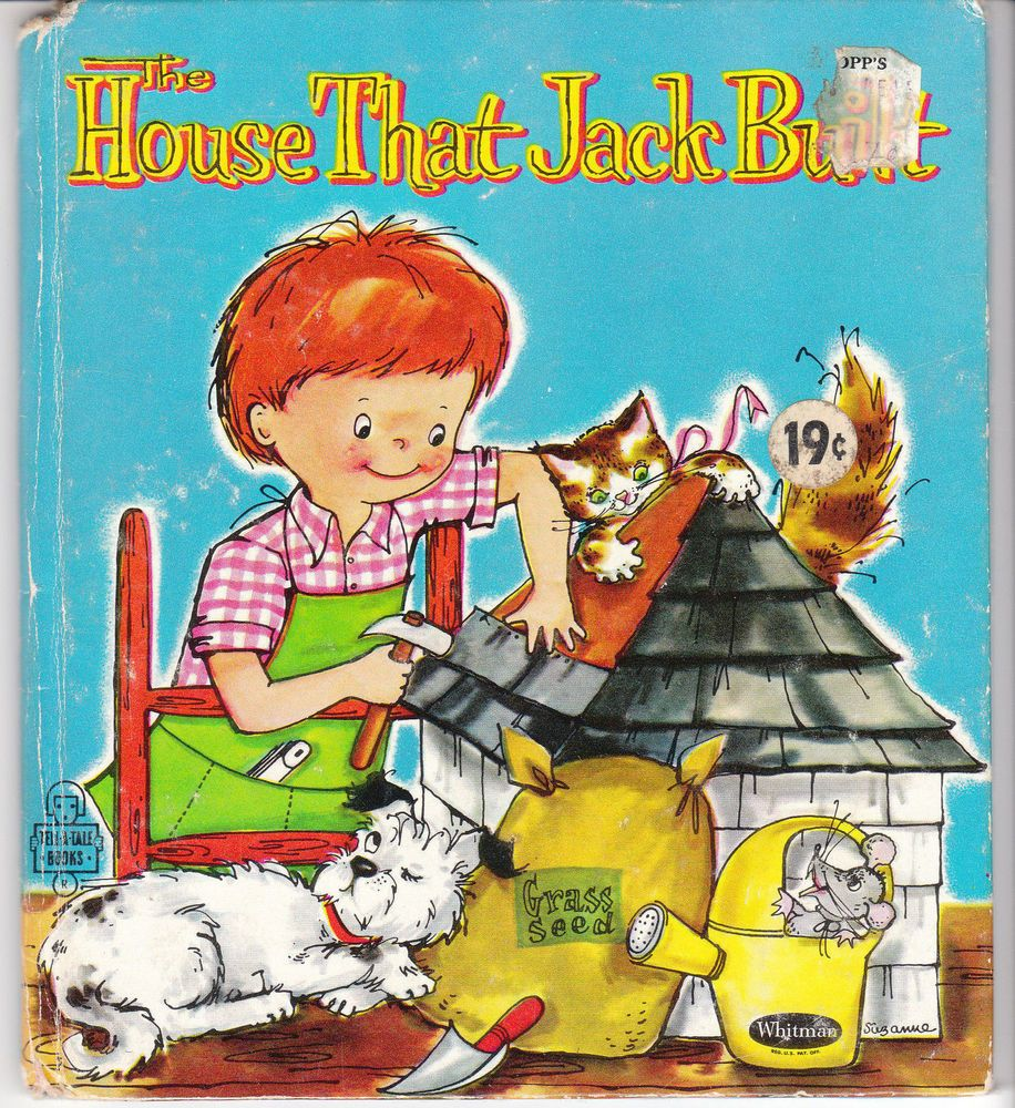 The House That Jack Built 1961 Whitman Tell A Tale Book Suzanne