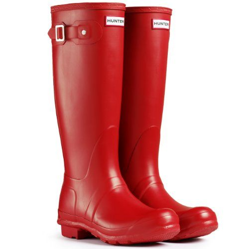 Hunter Original Tall Red Womens Wellington Boots Size 5 UK * Continue to  the product at the image link.