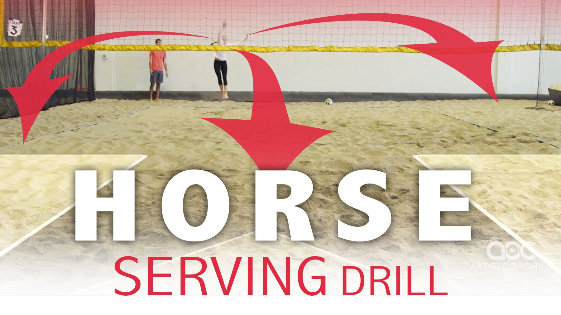 Horse Serving Drill For Sand Indoor Coaching Volleyball Volleyball Volleyball Training