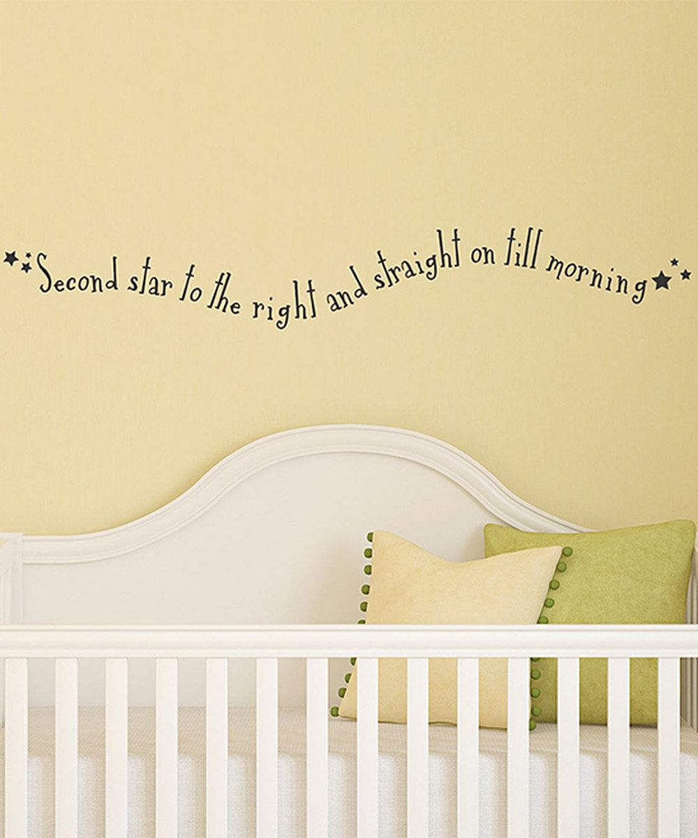 Take a look at this Black \'Second Star to the Right\' Wall Decal on ...