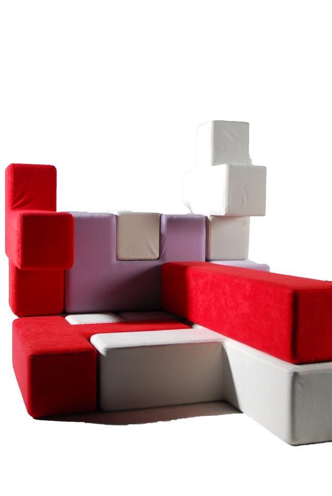 Cuscini Tetris.Il Divano A Tetris Tat Tris Idee Per La Casa Divano