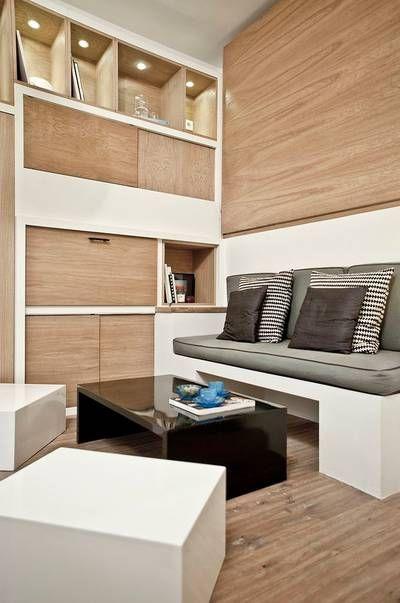 Miniature studio duhesme 17m2 paris géraldine laferté architecte dintérieur petite surface