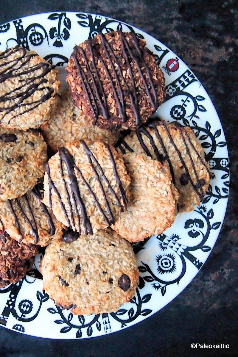 Kahden aineksen cookiet (G,M,S,KM) | paleokeittio.fi