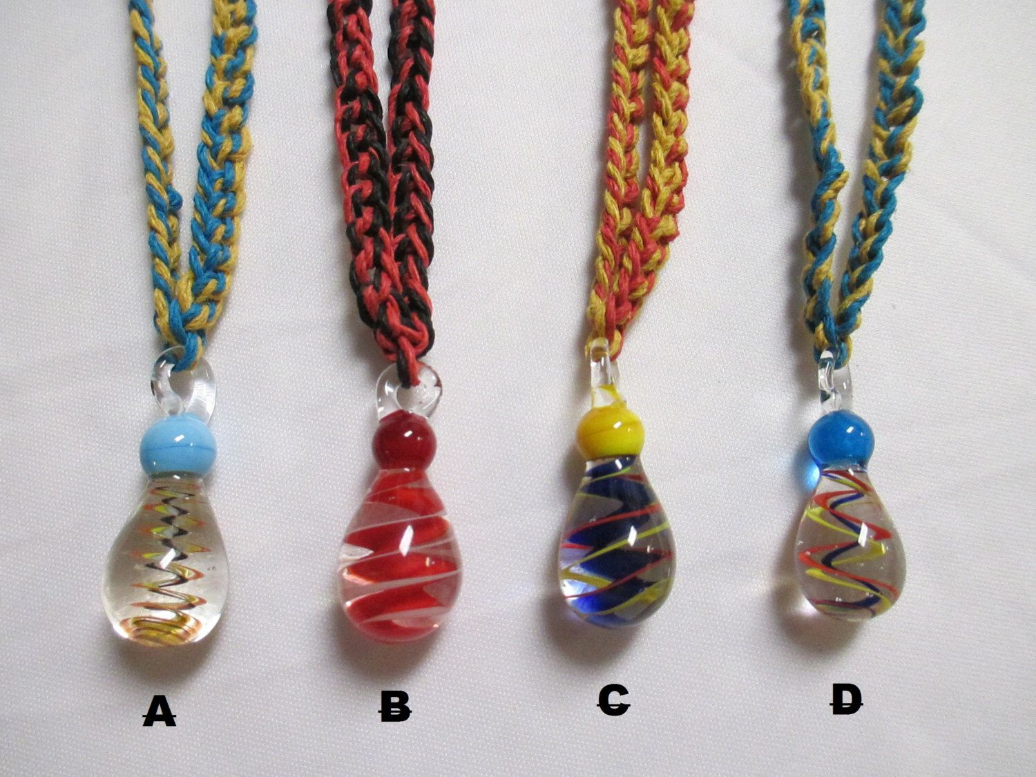 Jumbo swirl glass pendant hemp necklace 1 you choose color by jumbo swirl glass pendant hemp necklace 1 you choose color mozeypictures Images