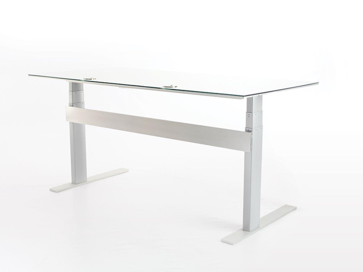 Air Silver Desk Silver Desk Stand Up Desk Thin Desks