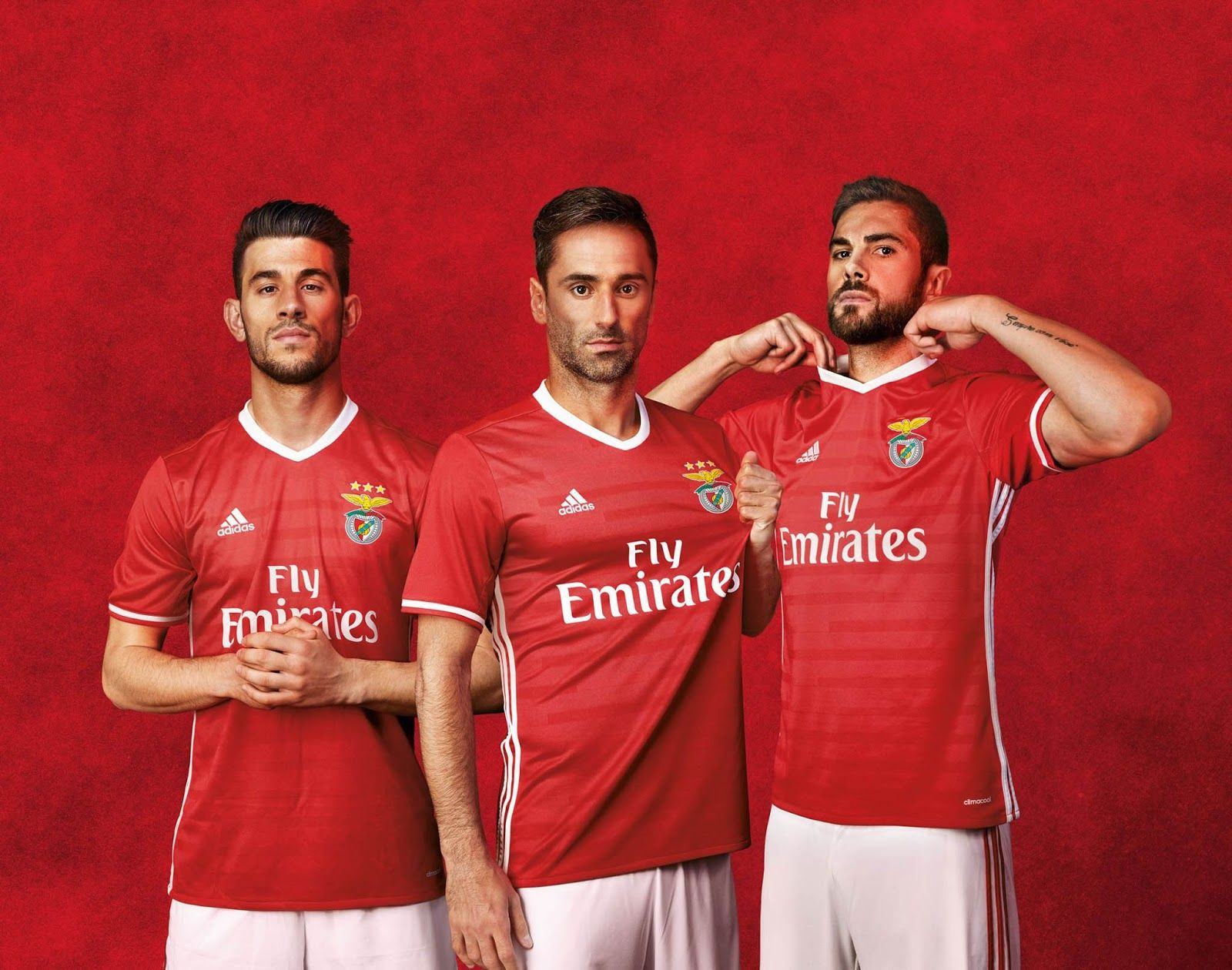 Football com category football kits image sl benfica 1st kit - The Benfica Home And Away Kits Introduce Clean Designs Boasting Adidas Iconic Three Stripes