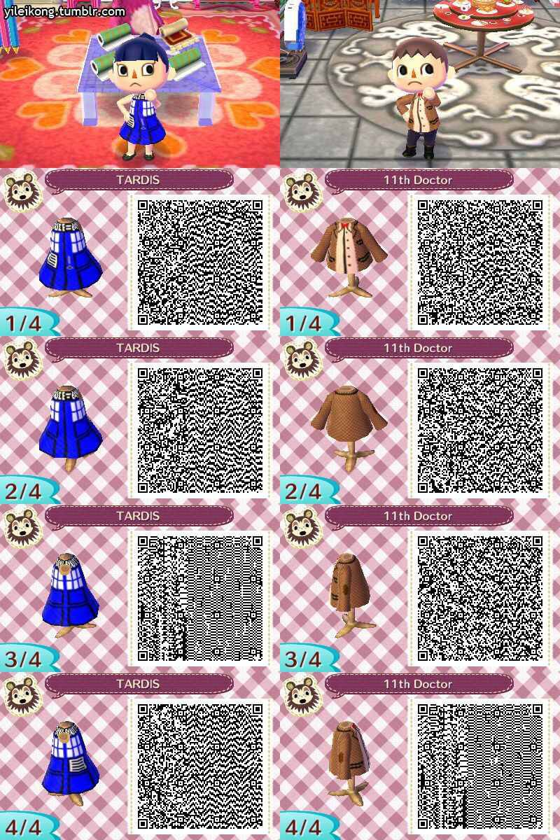 Animal Crossing New Leaf Qr Code For Doctor Who I Want The