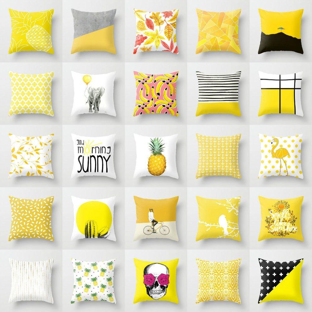 Cojines con piñas para las habitaciones juveniles | Diseño