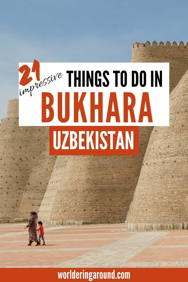 The best things to do in Bukhara, Uzbekistan, along the Silk Road. Bukhara architecture, places to see in Uzbekistan, Islamic architecture in Bukhara, Uzbekistan travel guide. Must see places in Uzbekistan, Bukhara Uzbekistan Silk Road, Central Asia. #uzbekistan #centralasia #bukhara #silkroad #islamic #architecture #bucketlist #offthebeatenpath