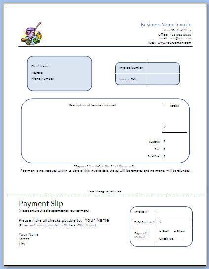 Now that you have started advertising, hopefully those calls are - sample invoices free
