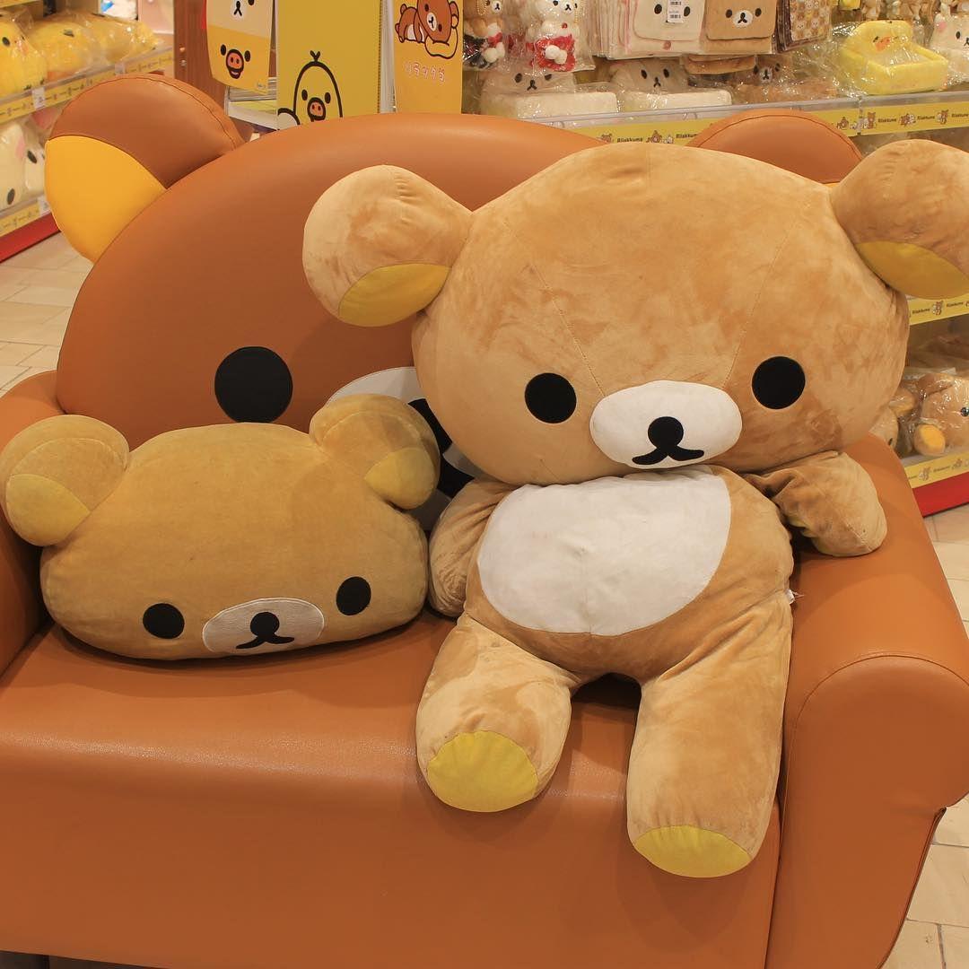 "nadeshikocha: "" lazy saturday~ #rilakkuma #リラックマ So much want...so little money... """