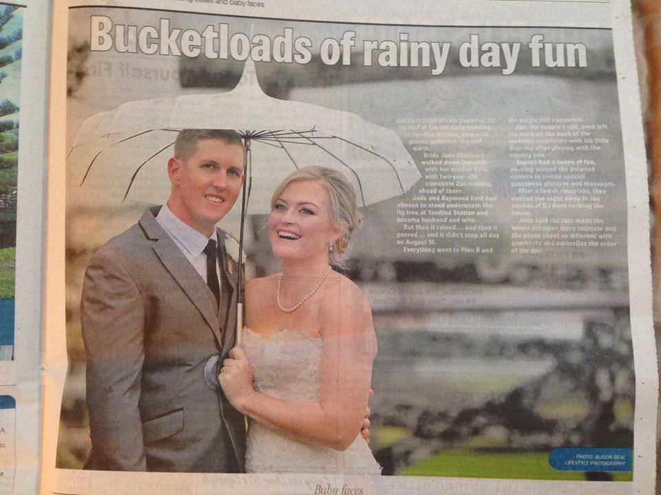 Rainy day at Yandina Station  Wedding Belles Sunshine Coast Daily  www.suzanneriley.com.au