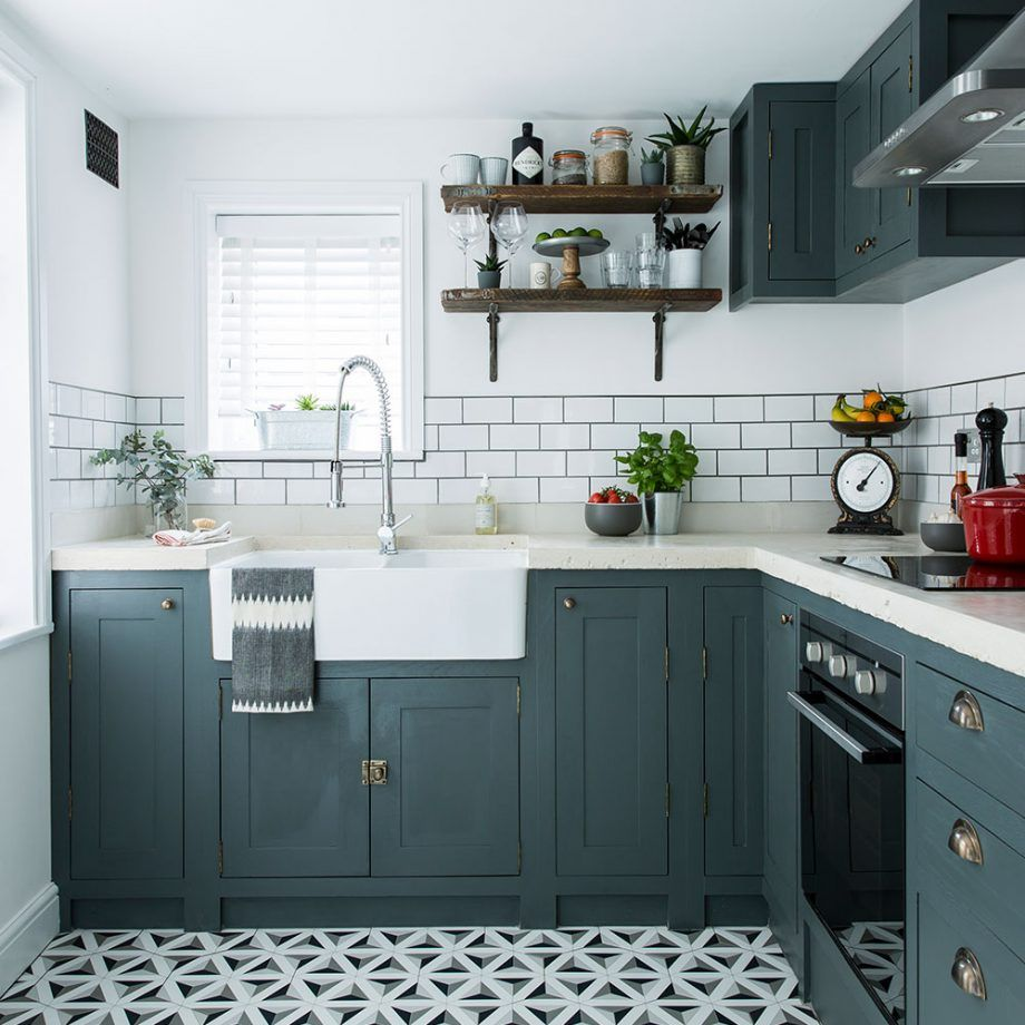 Self made cabinets kept costs down in this kitchen makeover ...