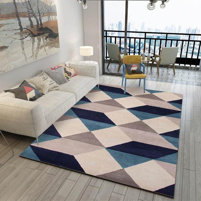 Aladin Blue And White Geometric Rug In 2021 Blue Rugs Living Room Rugs In Living Room Living Room Carpet Elegant carpet for living room