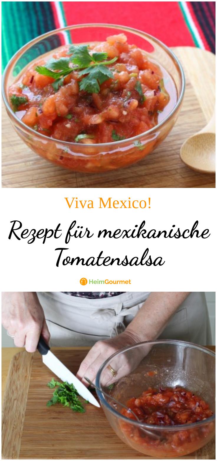 Rezept für mexikanische TOMATENSALSA! Der perfekte Dip für NACHOS!