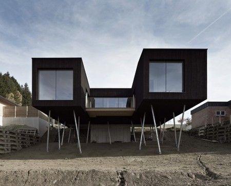 Maison Contemporaine Sur Pilotis Avec Vue Panoramique En Autriche