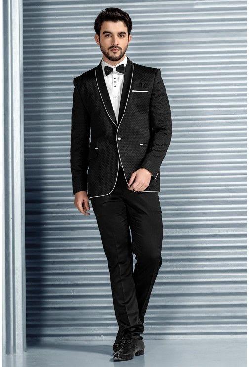 Tuxedo Suits-Black-Embossed-ST611 | Fashion | Pinterest | Wedding ...