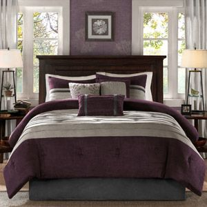 Home Essence Dakota 7 Piece Comforter Set Is Eggplant Girlie I Sure Hope Not Because This Is