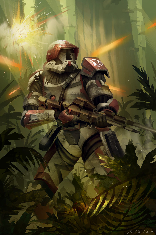 Republic Trooper David Frasheski Star Wars Painting Star Wars Art Star Wars Pictures