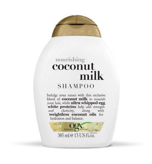 ogx shampoo, nourishing coconut milk, 13oz, sulfate-free and safe
