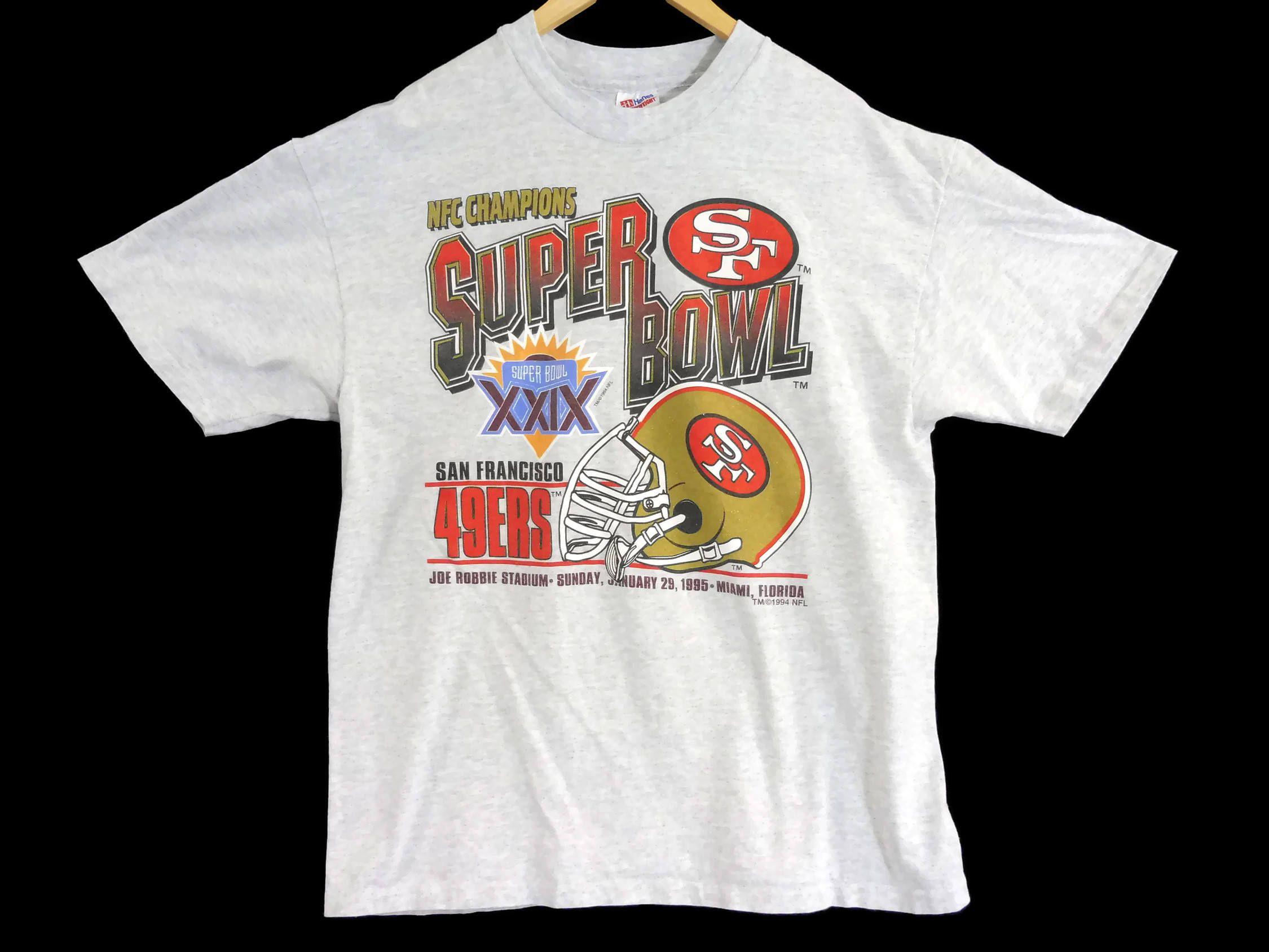 VTG 1994 SF 49ers T-Shirt - Large - Superbowl Champions 1995 - Football -  NFL - Hanes Heavyweight - Vintage Tee - Vintage Clothing - by BLACKMAGIKA  on Etsy 2cf71994b