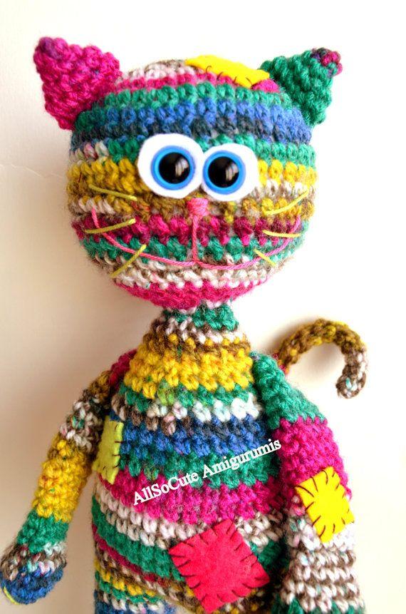 Crochet Pattern Cat Amigurumi Pattern Amigurumi Cat Allsocute