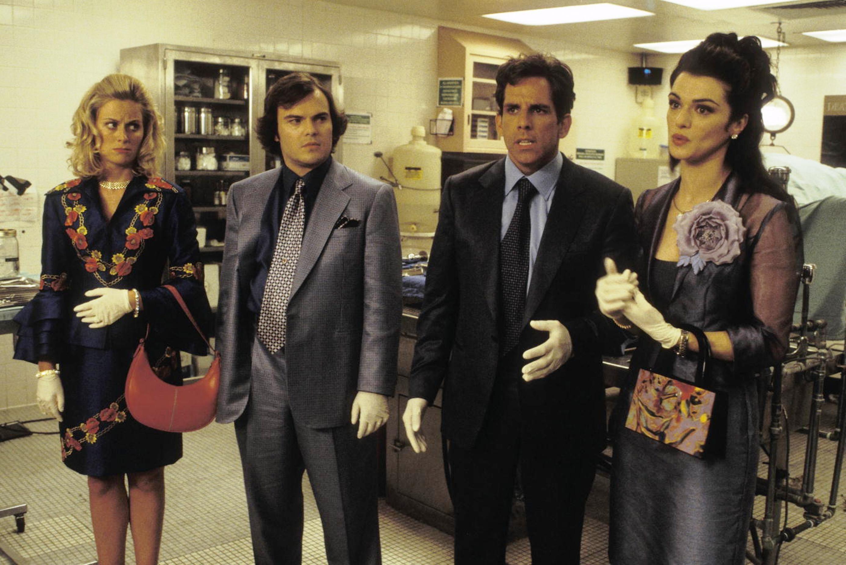 Envy Movie Still 2004 L To R Amy Poehler Jack Black Ben Stiller Rachel Weisz Plot A Man Stiller Becom Rachel Weisz Movies Jack Black Rachel Weisz