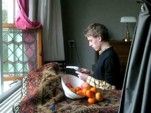 Tableau Vivant - Jan Vermeer Girl (Boy) Reading a Letter - YouTube