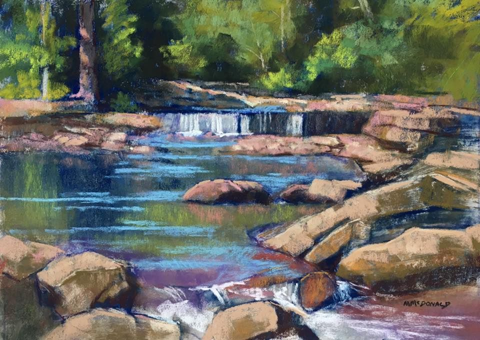 Marianna McDonald watercolor of Kentucky stream
