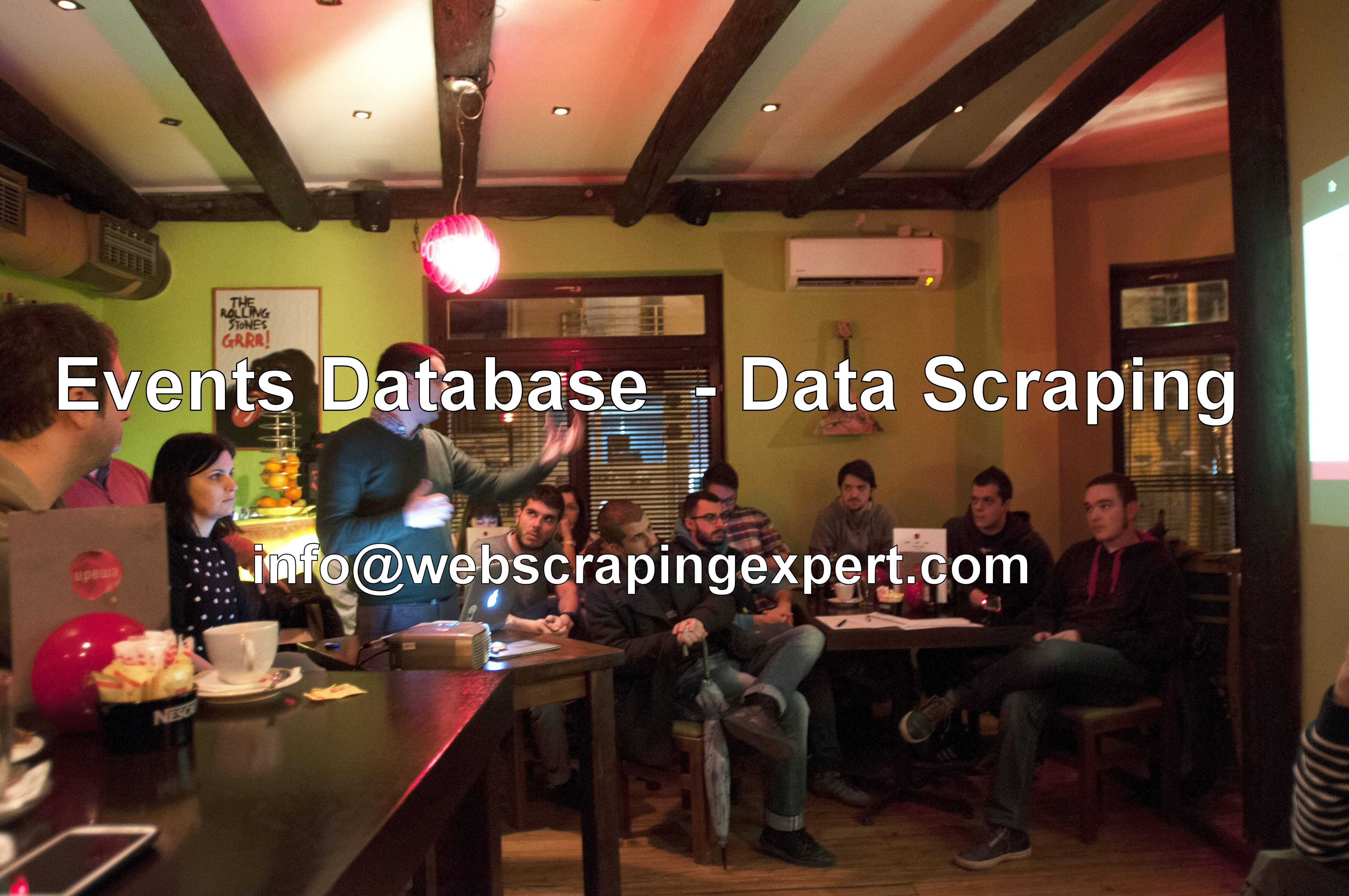Events Data Scraping | Events Lists | Events Database | Web