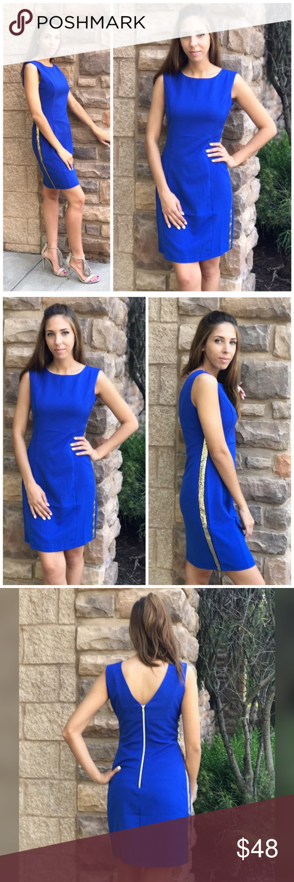 Royal blue dress for wedding guest  Royal Blue Slip Dress The perfect classy wedding guest or career