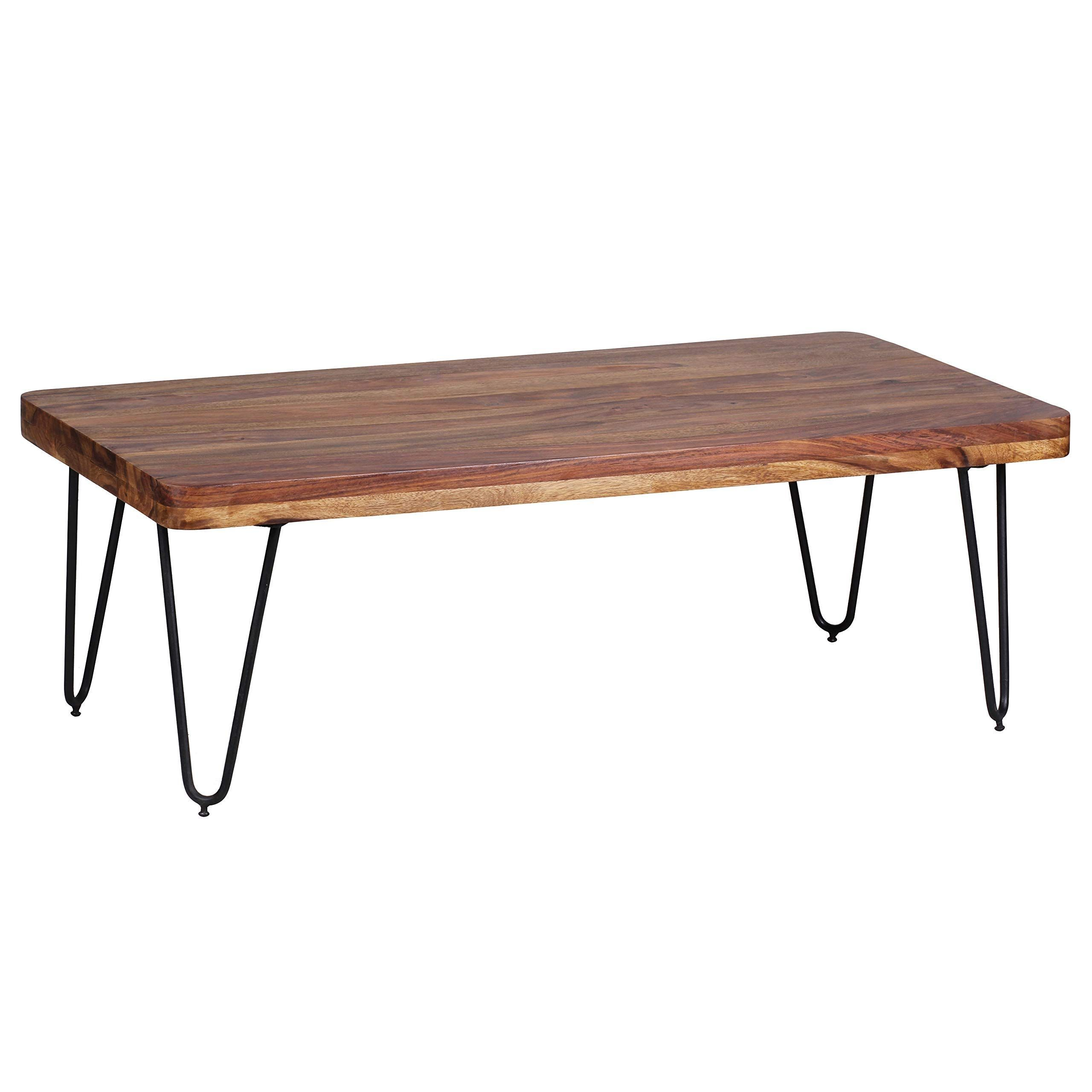 Finebuy Wohnling Couchtisch Bagli Sheesham Massivholz 115x40x60 Cm Wohnzimmertisch Design Sofatisch M Retro Coffee Tables Pine Coffee Table Coffee Table Wood