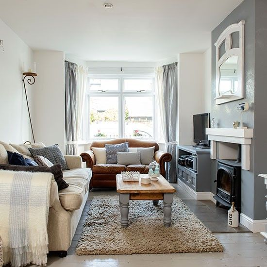 Cosy Grey And White Living Room White Living Room Decor Brown