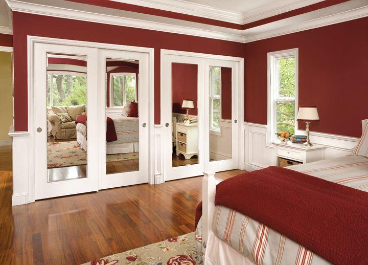 Space Saving Idea Mirrored Closet Doors Product Jeld Wen Molded Wood Composite Jeld Wen D Mirrored Bifold Closet Doors Doors Interior Mirror Closet Doors