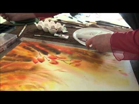 Demonstration D Aquarelle Dans L Humide Les Baies De Berberis