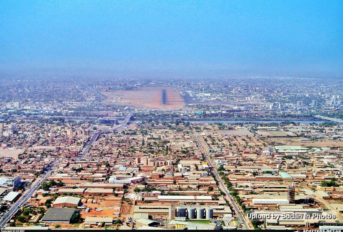 Khartoum Aerial Photo With The Airport In The Background صورة من الجو للخرطوم و يظهر المطار في الخلفية Sudan Khartoum Aerial Paris Skyline Photo Skyline