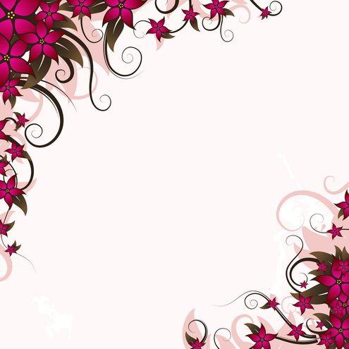 Floral Announcement Card 2 Vector Dragonartz Designs With