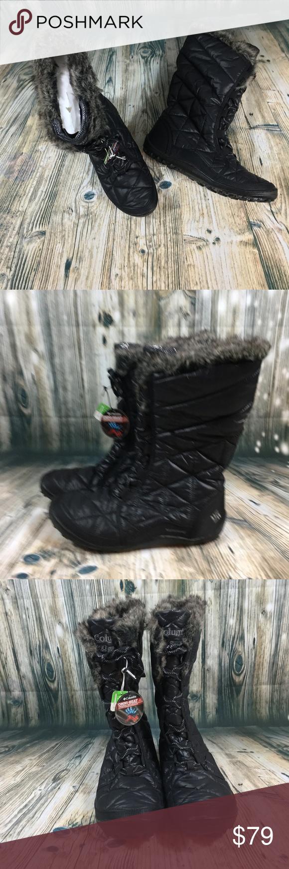 d090b1b3611b New Columbia Minx Mid II Boots Black Size 9 New Columbia Minx Mid II Omni  Heat