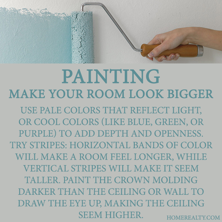 Paint Colors That Make A Room Look Bigger tricks for painting rooms | future house, yes please | pinterest