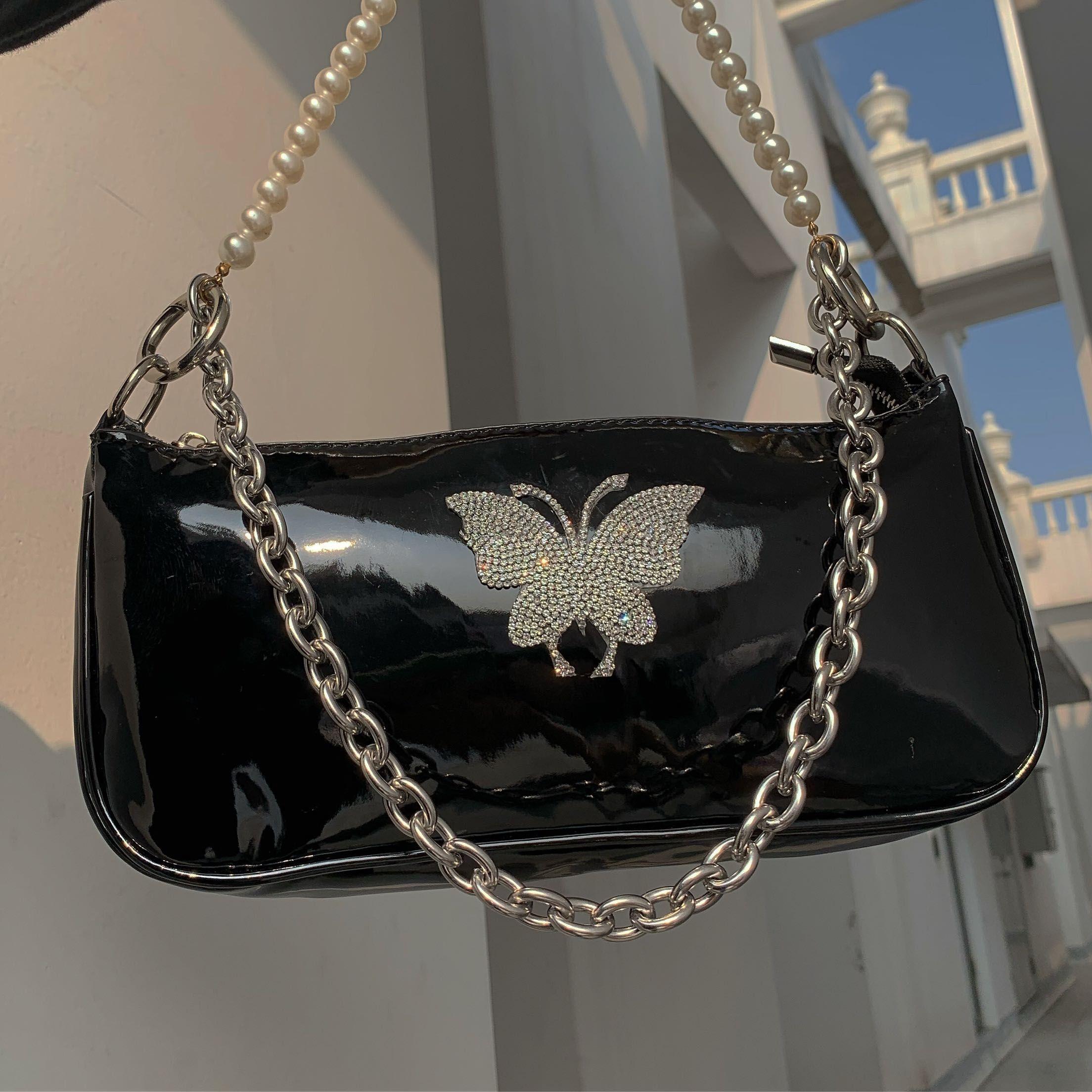 Butterfly Baguette Handbag Y2K